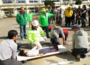 駒林小と日吉南小を皮切りに日吉・綱島・高田の各小中学校で「防災訓練」を開始