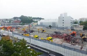 跡形もなくなったアピタ日吉店の建物、騒音や埃に悩まされた解体工事も一段落か