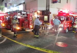<10/7(金)夜>普通部通り近くの飲食店でボヤ、消防車10台以上が出動する騒ぎに