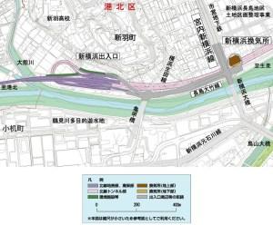 きたせん開通で整備進む、新羽の鶴見川沿い通る「長島大竹線」で風景が変わる