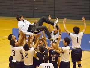 <バレー男子>慶應塾高が県大会で初の優勝、1月の「春高バレー」も初出場