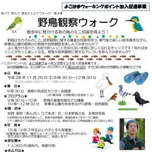 野鳥や自然を親子で学ぶ観察ウォーク、11/26(土)小机・新横浜公園で