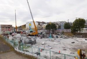 「日吉台学生ハイツ」の建物が消えた、解体後は伊藤忠の独身寮建設に着手