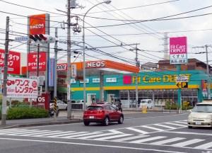高田西1の県道「荏田綱島線」、島忠ホームズ周辺で4月から6月までの間に舗装工事