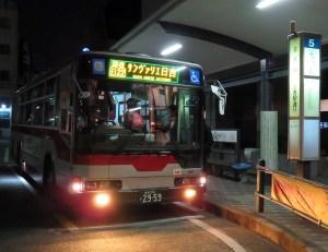 サンヴァリエ日吉行と東山田営業所行の土曜日「深夜バス」時刻を繰り下げ