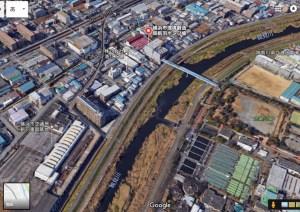 """鶴見川の新たな橋は「新羽ポンプ場~太尾公園」間か、""""送管橋""""活用を市が検討"""