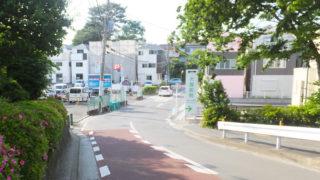 <下田小>校門前のバス通り両側に歩道整備へ、用地取得が順調なら3年後