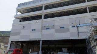綱島SSTに建設中「アピタ」の今~外からも建物の輪郭が次第に見えるように