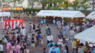 新横浜の2017年「盆踊り」は今週末、7/28(金)・29(土)に駅前西広場で