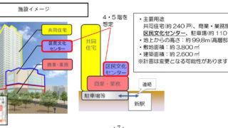 """区民ホールなどの高層再開発ビル、2023年3月までに新綱島駅と""""同時開業""""目指す"""