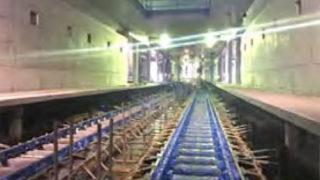 <相鉄直通線>羽沢駅などJR直通側でレール敷設中、新横浜へはトンネル掘り進める