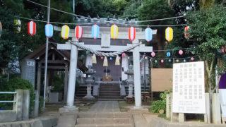 今週末10/7(土)昼に「岸根杉山神社」で秋祭り、山車の巡回や模擬店も