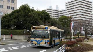 10/10(火)サッカー日本代表戦で「労災病院前」「浜鳥橋」バス停が15時半から休止
